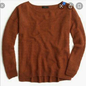 J. Crew S linen cable knit crew neck linen sweater